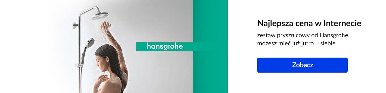 Hansgrohe zestaw prysznicowy z deszczownicą tani