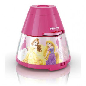Philips Disney Princess lampka nocna, projektor różowy LED - 508970_O1