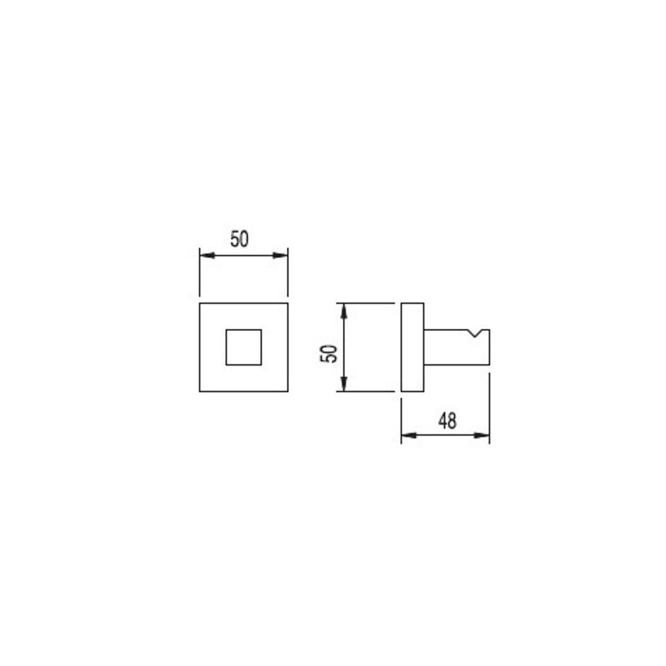 Tres Cuadro-Tres wieszak chrom - 3837_T1