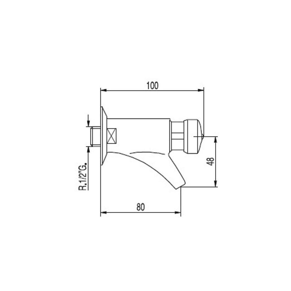 Tres Tempotres bateria umywalkowa podtynkowa chrom - 5372_T1