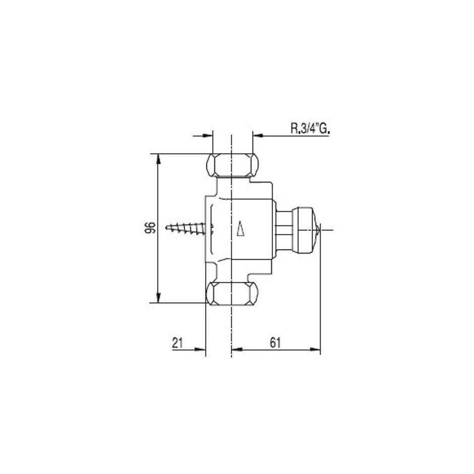 Tres Tempotres bateria natryskowa natynkowa chrom - 5378_T1