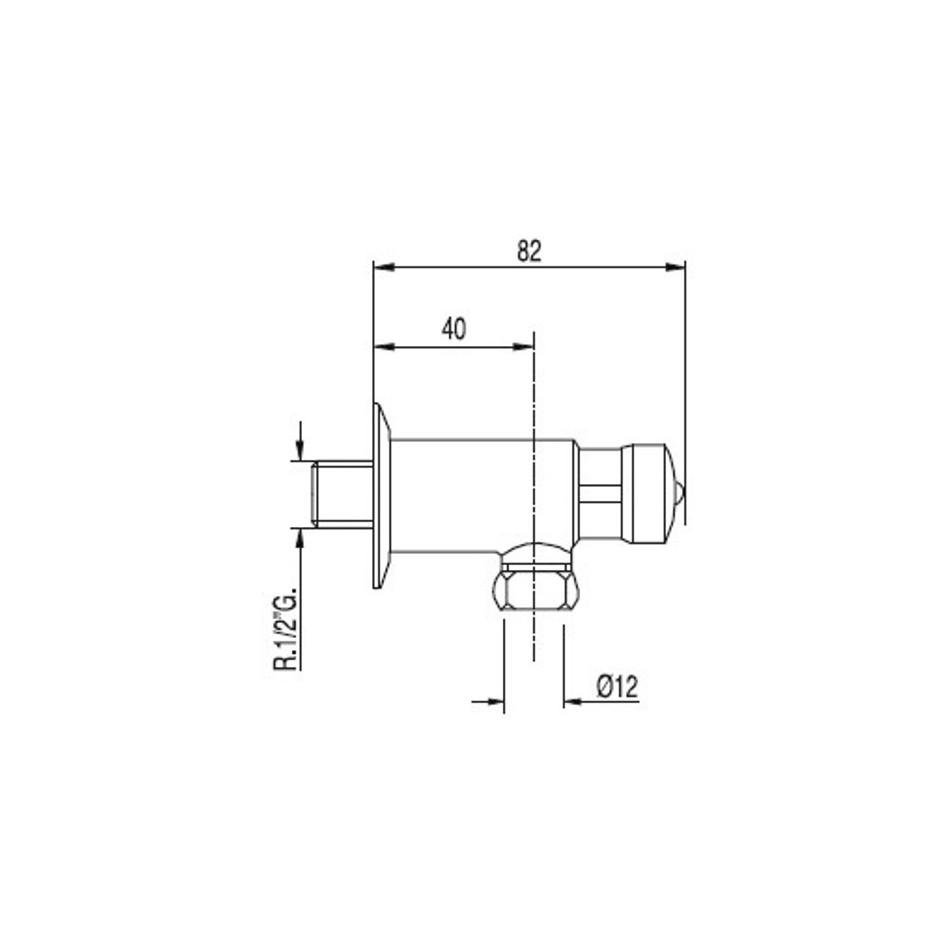 Tres Tempotres zawór pisuarowy przyłącze wyjściowe rurowe 10x12+ śruba z uszczelką chrom - 5381_T1