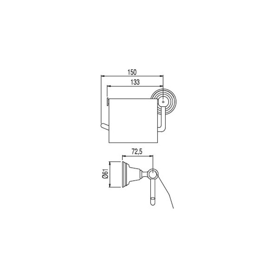 Tres Retro uchwyt na papier toaletowy chrom - 3850_T1