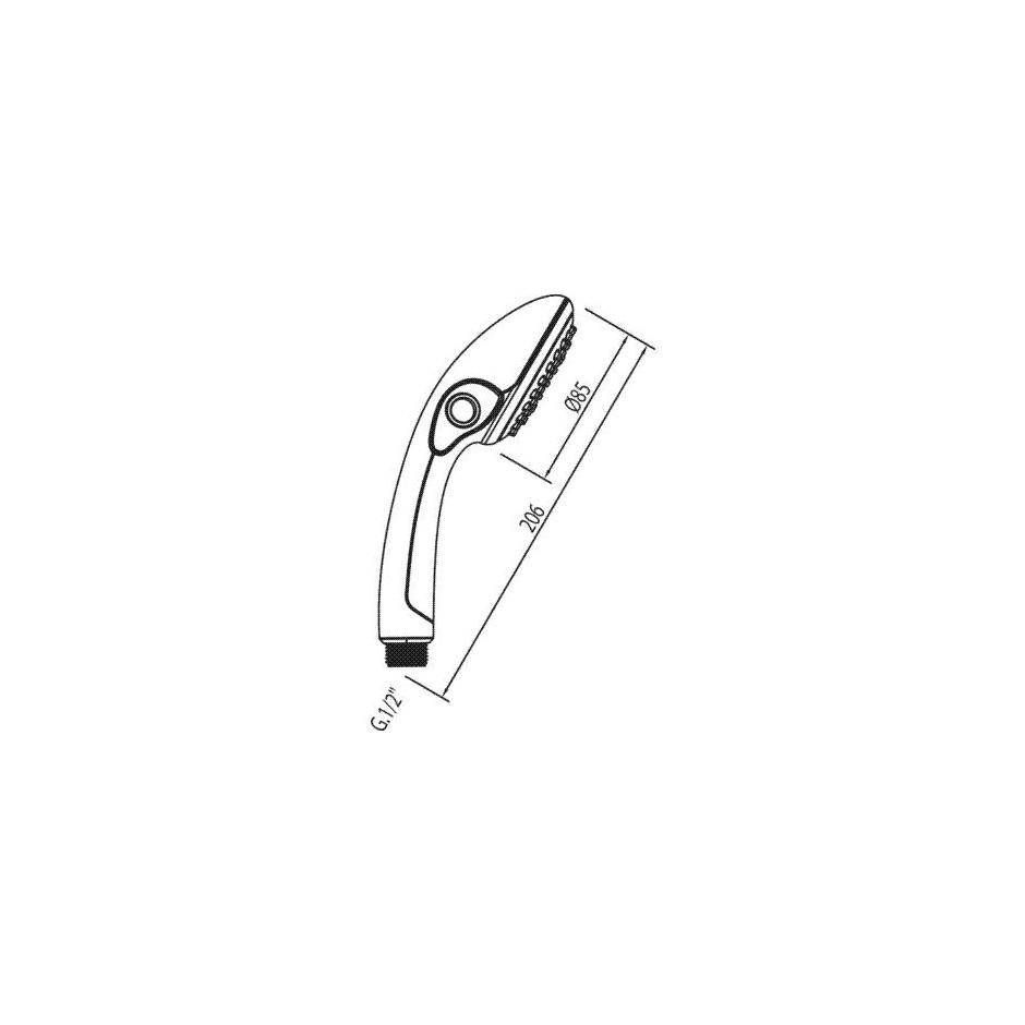 Tres słuchawka prysznicowa antical Pausa posiada funkcję Stop-Tres chrom - 4740_O2