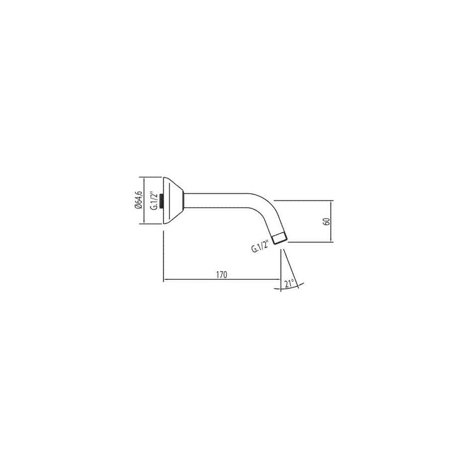 Tres ramię do słuchawki ściennej Eco chrom - 4751_T1