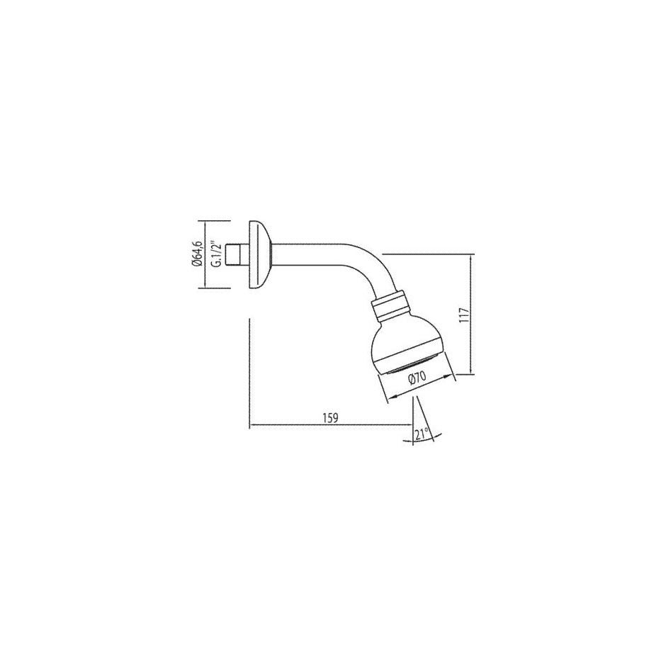 Tres słuchawka głowica Ordal chrom - 4758_T1