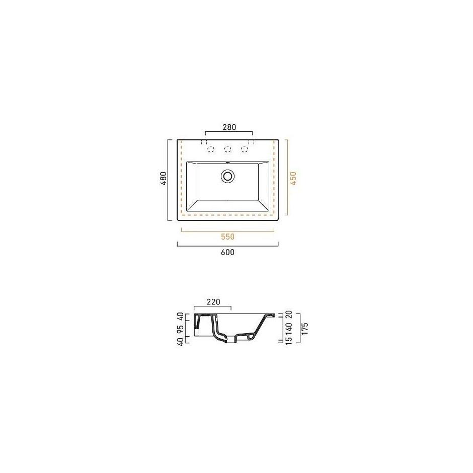 Catalano Star Umywalka wisząca 60x48 biała - 469223_T1