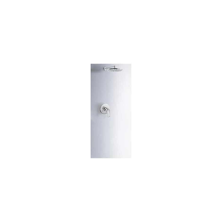 Tres K-Tres kompletny zestaw prysznicowy podtynkowy deszczownica o225mm chrom - 4956_O1