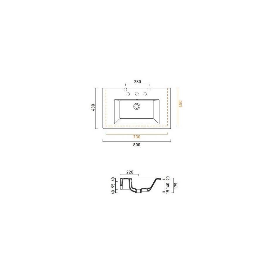 Catalano Star Umywalka wisząca 80x48 biała - 459639_T1