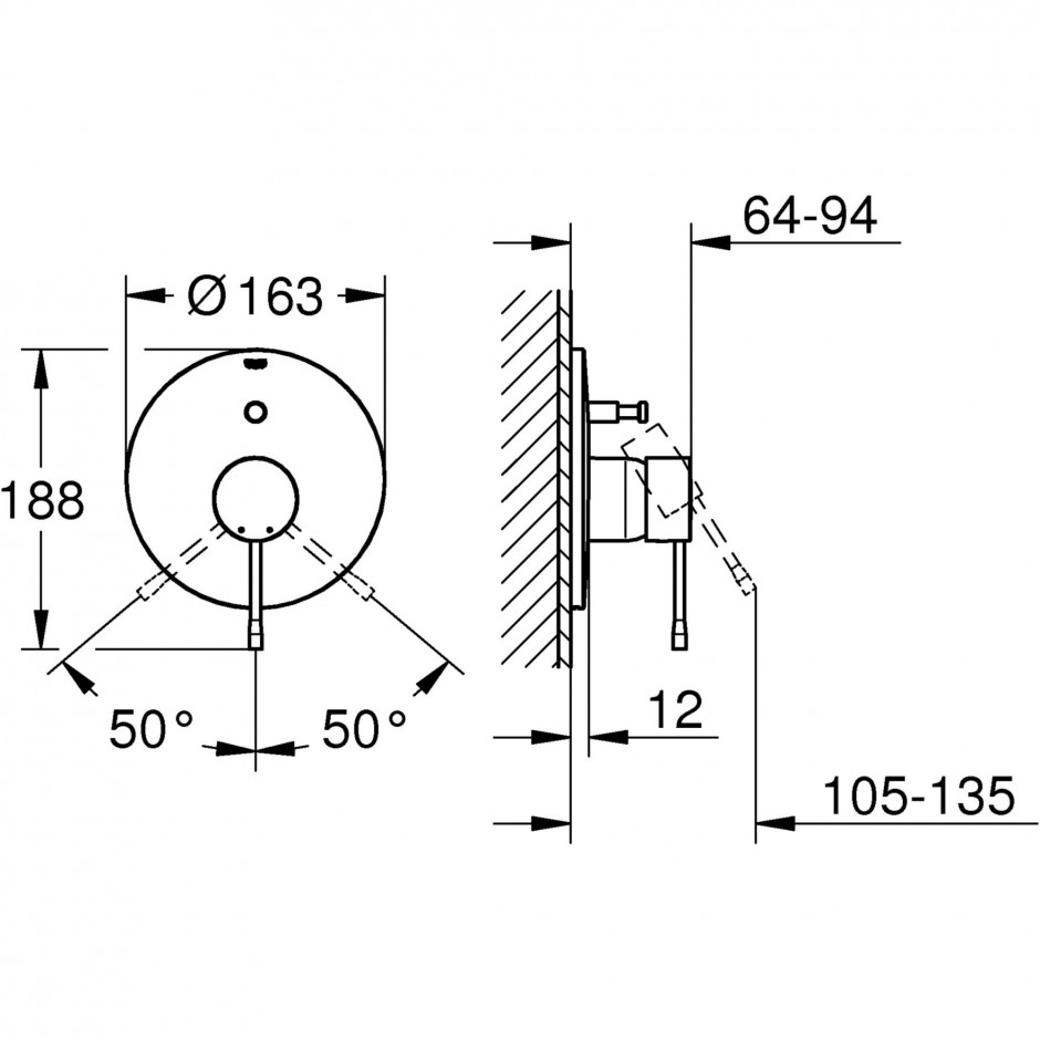 Grohe Essence bateria wannowa podtynkowa chrom - 540334_T1
