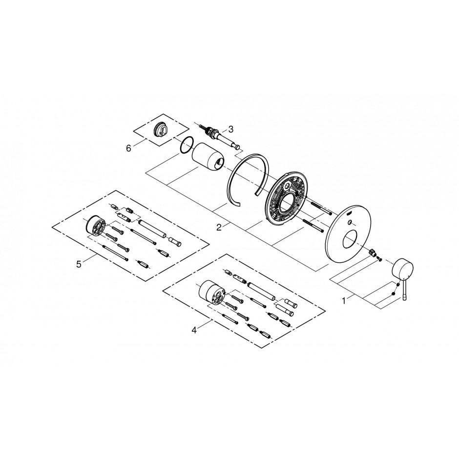 Grohe Essence bateria wannowa podtynkowa chrom - 540334_T2