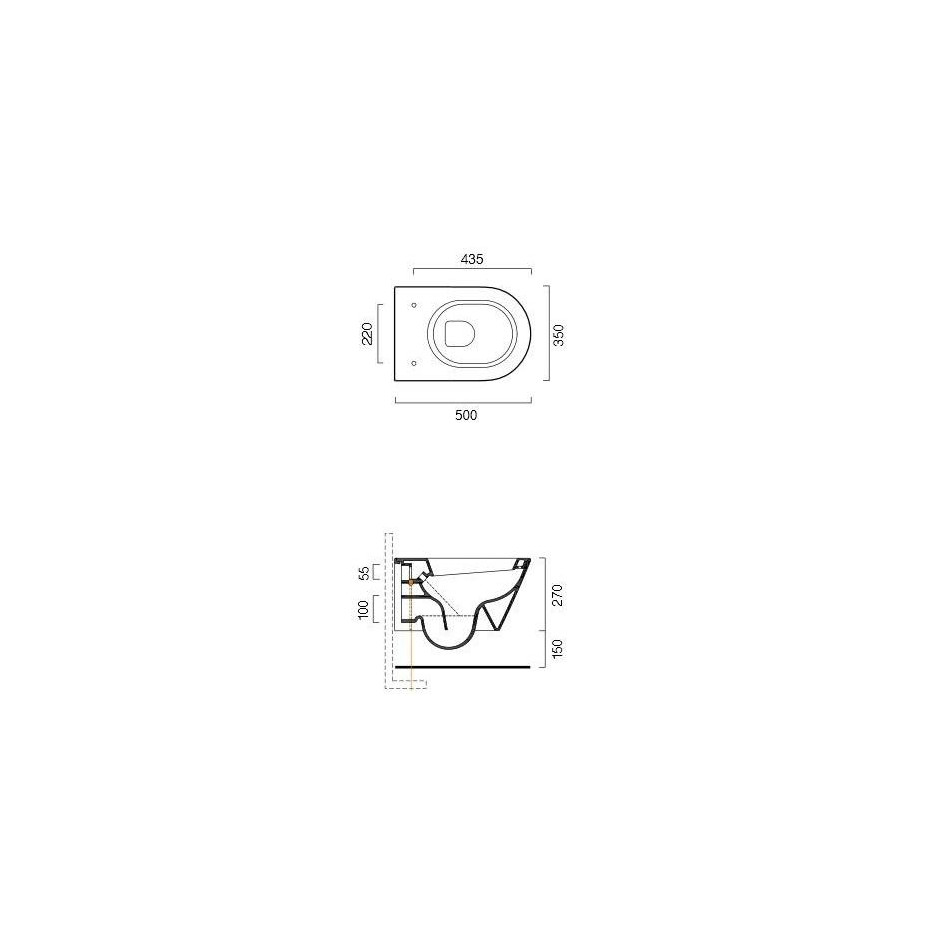 Catalano Zero Miska WC wisząca 50x35 +śruby mocujące (5KFST00) biała - 460203_T1