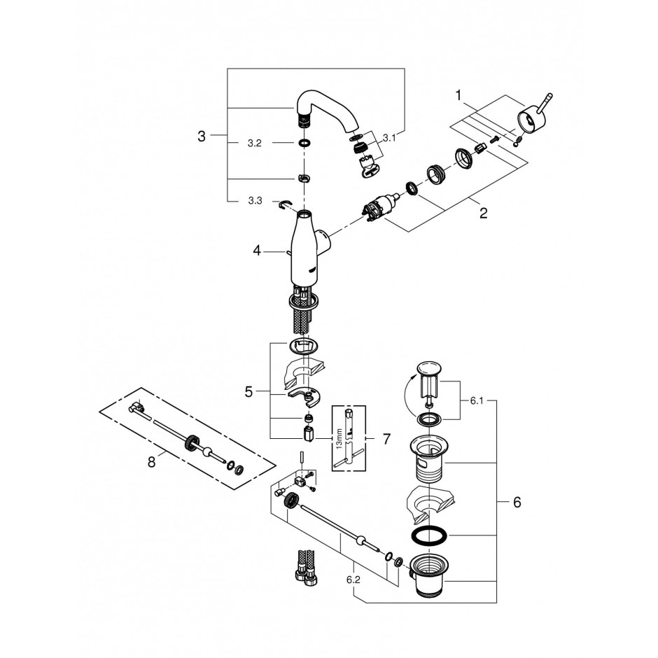 Grohe Essence bateria umywalkowa M chrom - 558510_T2