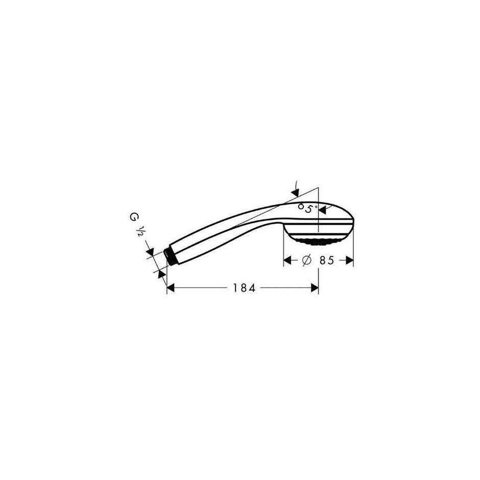 Hansgrohe Crometta 85 słuchawka prysznicowa Variojet - 2850_T1