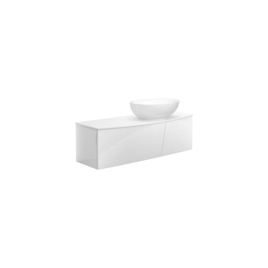 Villeroy & Boch Aveo new generation Umywalka stojąca na blacie owalna 595 x 440 mm szlifowany spód, bez miejsca na armaturę, Star White Ceramicplus - 464319_O2