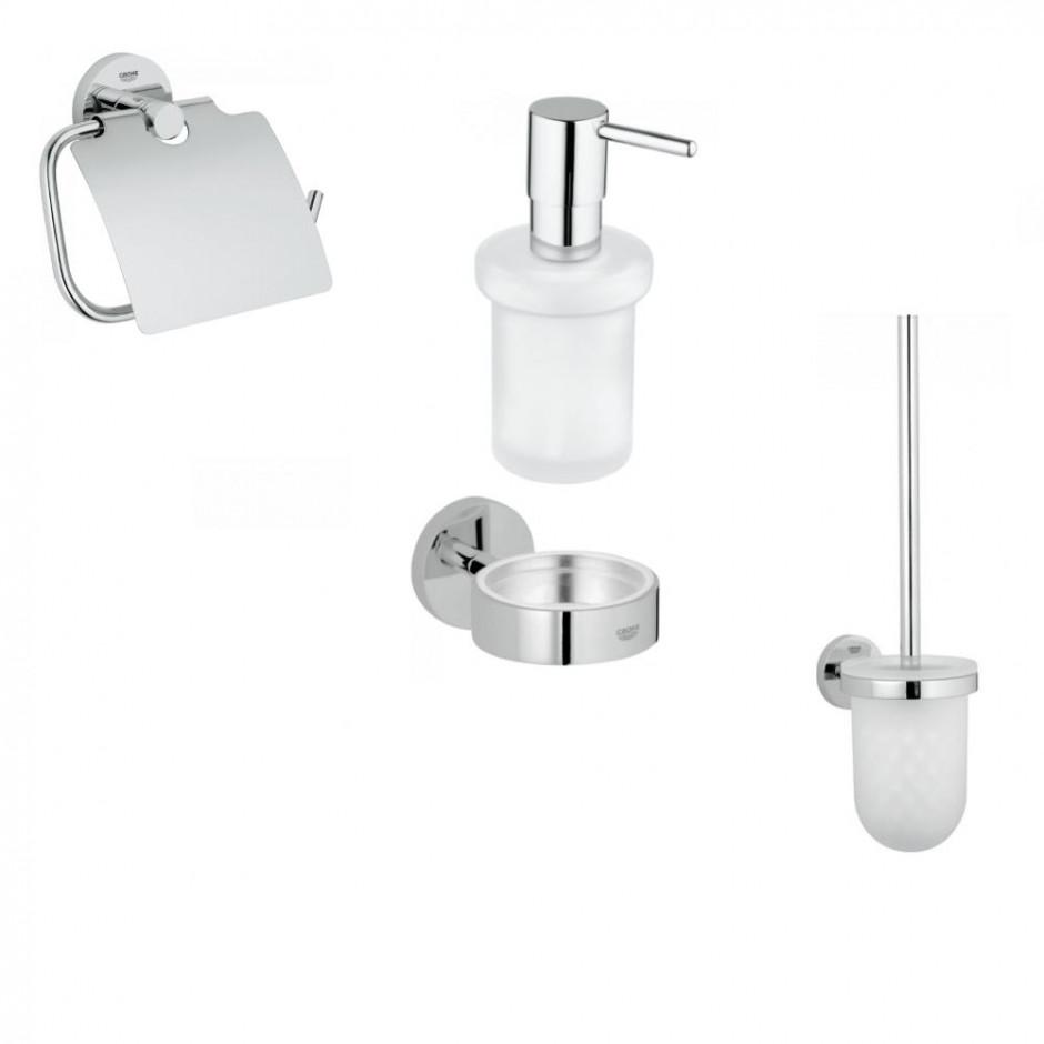 Grohe Essentials Zestaw akcesoriów łazienkowych (40367001 +40374001 +40369001 +40394001)