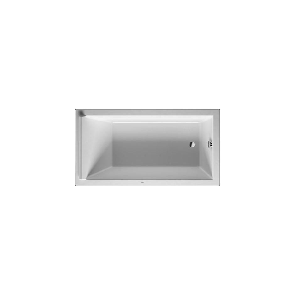 Duravit Starck Wanna prostokątna do zabudowy lub obudowy meblowej 170 x 90 cm biała
