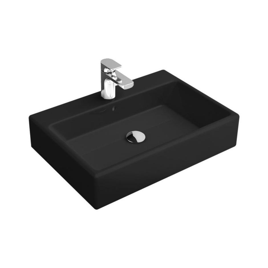 Villeroy & Boch Memento umywalka 500 x 420 mm, glossy black ceramicplus - 9919_O1