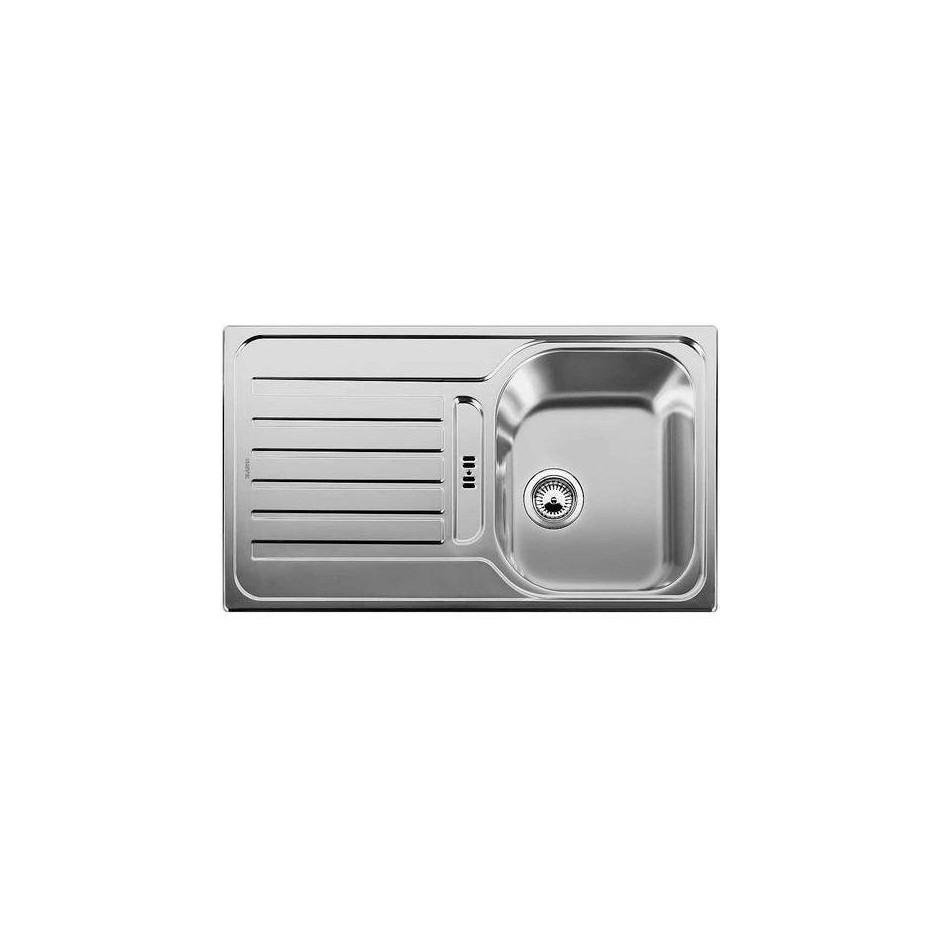 Blanco zlewozmywak stalowy LANTOS 45 S dekor bez korka automatycznego - 609577_O1
