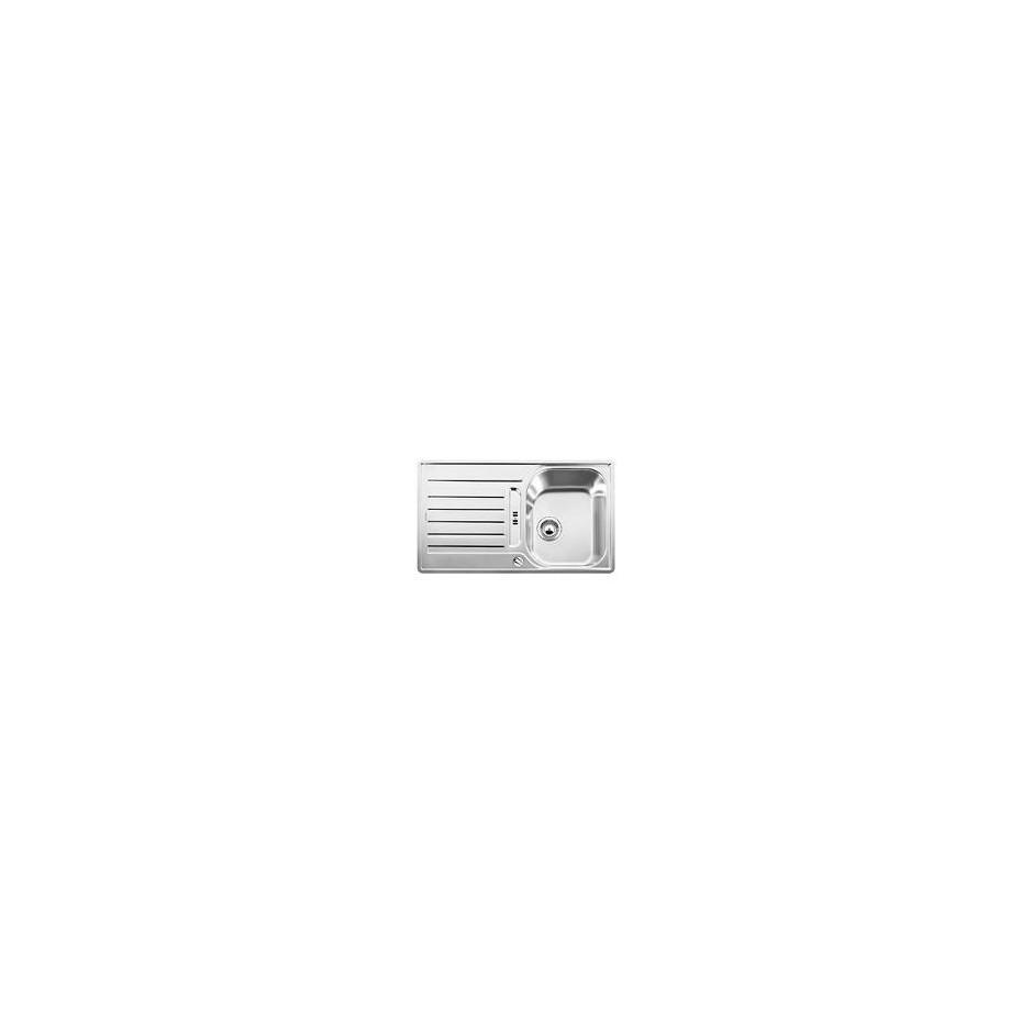 Blanco zlewozmywak stalowy LANTOS 45 S dekor z korkiem automatycznym - 609527_O1
