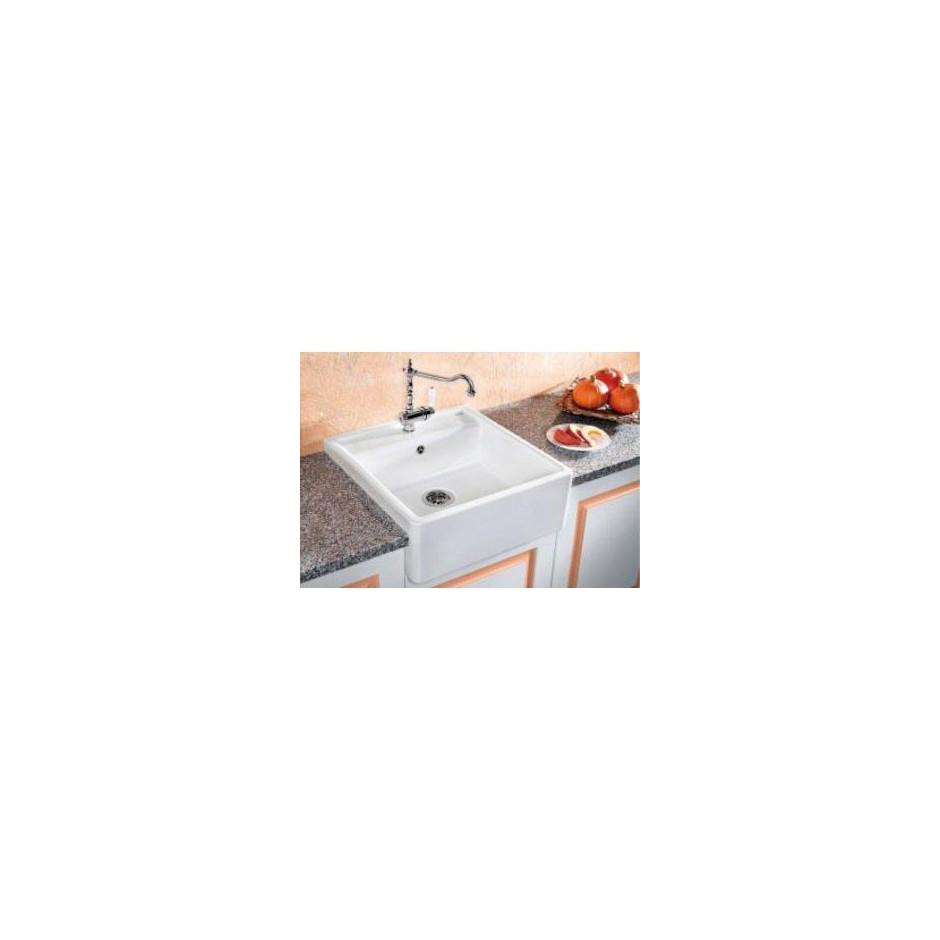 Blanco zlewozmywak ceramiczny PANOR 60 biały połysk z dwoma otworami - 464521_O1