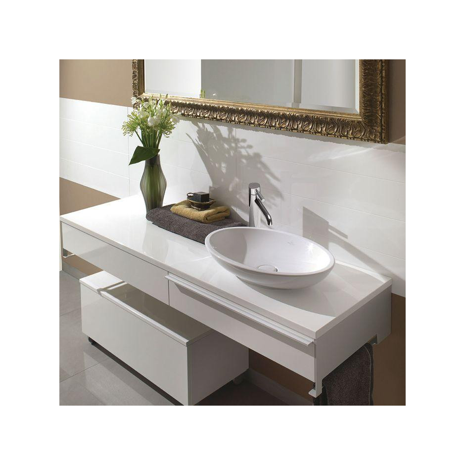 Villeroy & Boch Loop & Friends umywalka stojaca na blacie, 585 x 380 mm, z przelewem, Weiss Alpin - 357234_A1