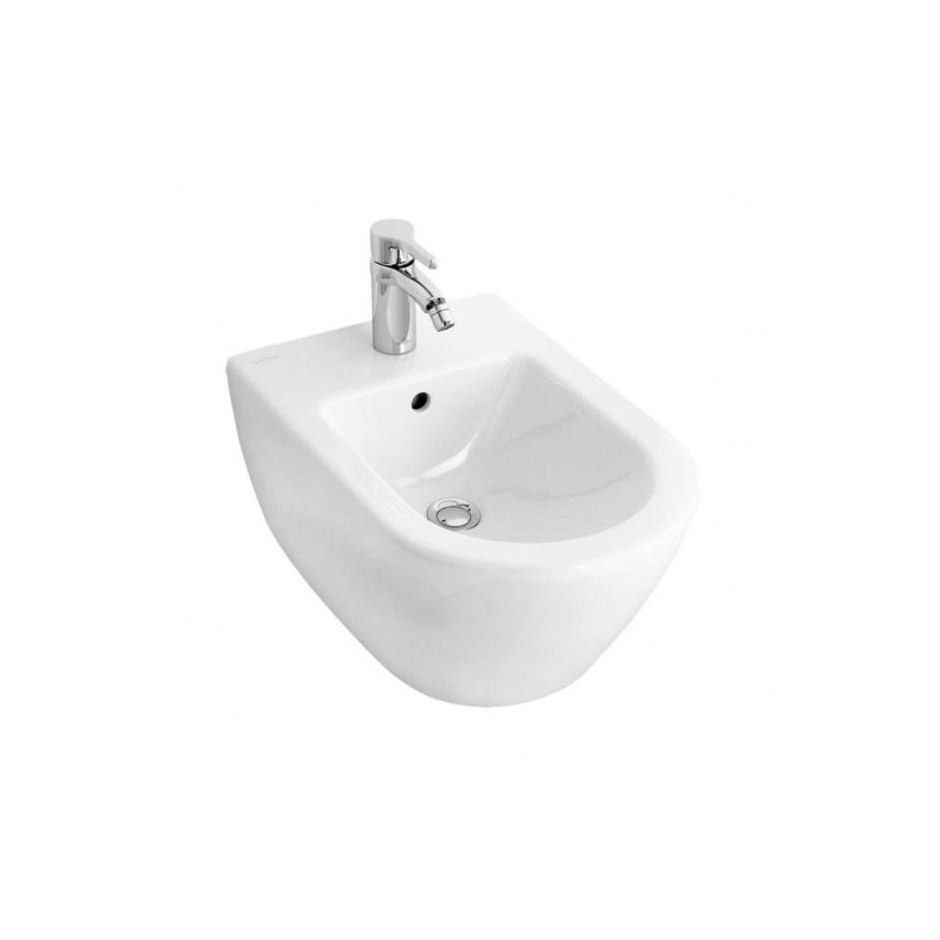 Villeroy & Boch Subway 2.0 bidet, 375 x 565 mm, model wiszacy, Star White Ceramicplus - 357263_O1