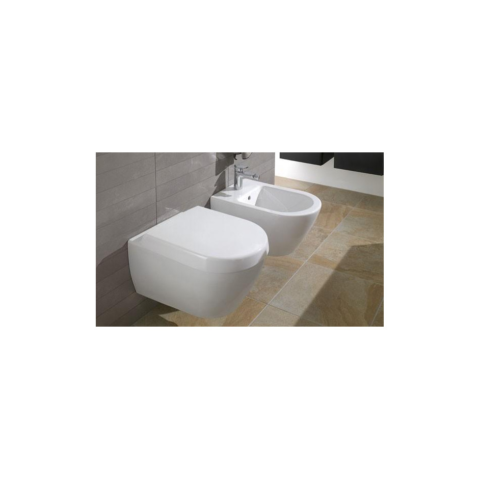 Villeroy & Boch Subway 2.0 bidet, 375 x 565 mm, model wiszacy, Star White Ceramicplus - 357263_O2