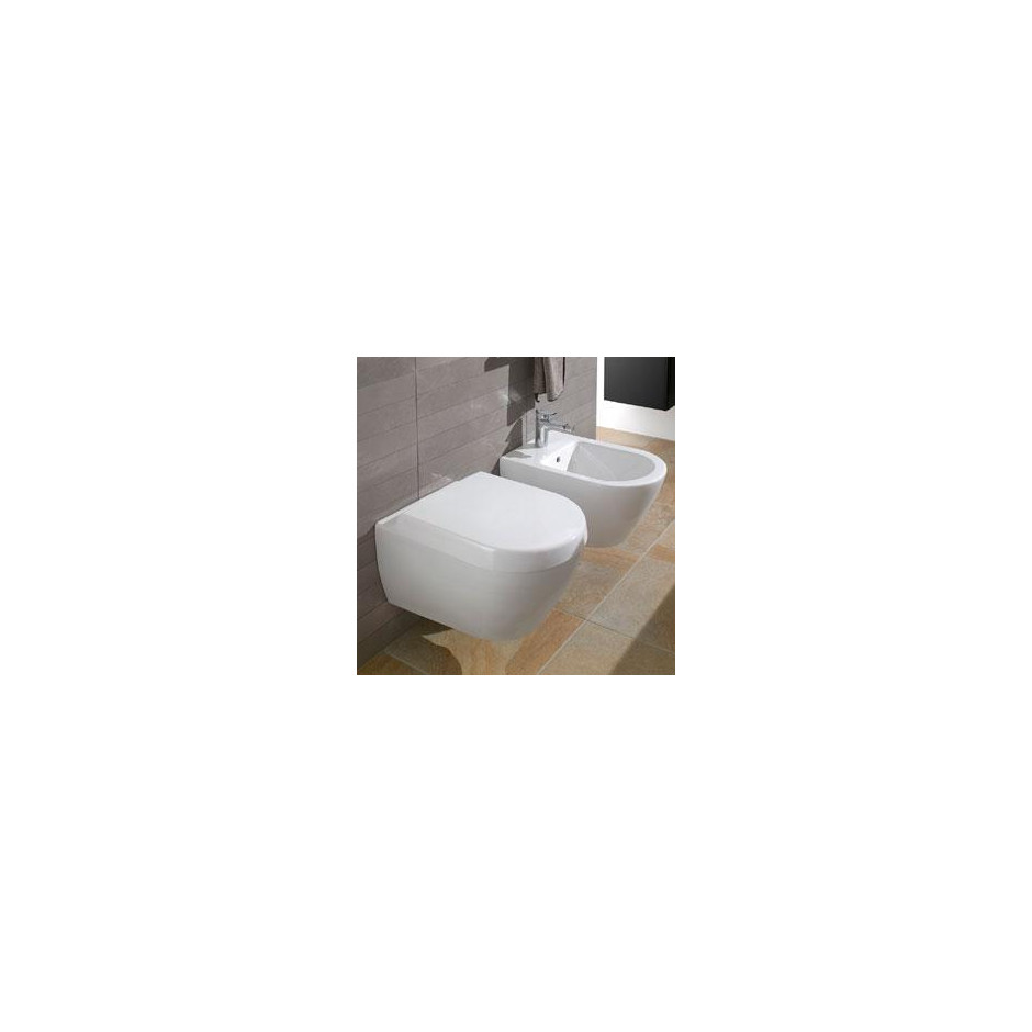 Villeroy & Boch Subway 2.0 bidet typu kompakt, 355 x 480 mm, model wiszacy, Star White Ceramicplus - 419012_O2