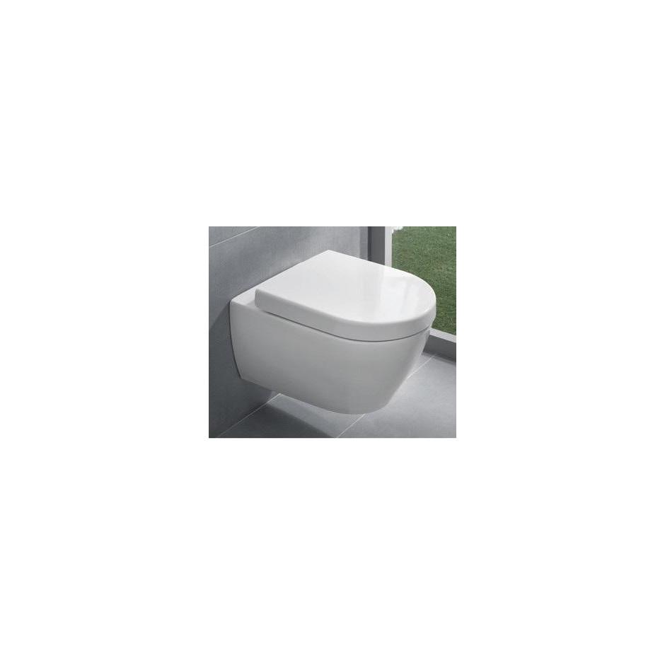 Villeroy & Boch Subway 2.0 miska WC wisząca bezrantowa, DirectFlush , 375 x 565 mm, Star White Ceramicplus - 466759_A1