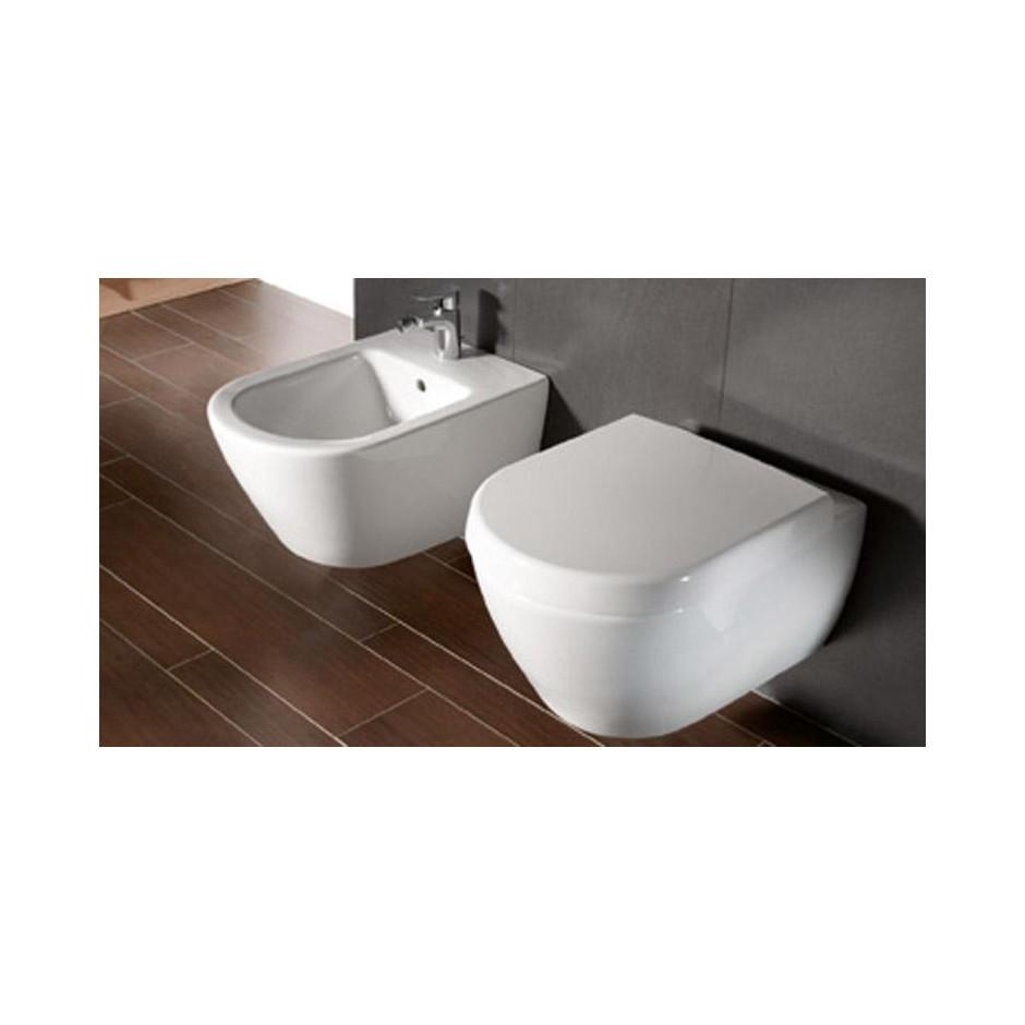 Villeroy & Boch Subway 2.0 miska WC wisząca bezrantowa, DirectFlush , 375 x 565 mm, Star White Ceramicplus - 466759_A3