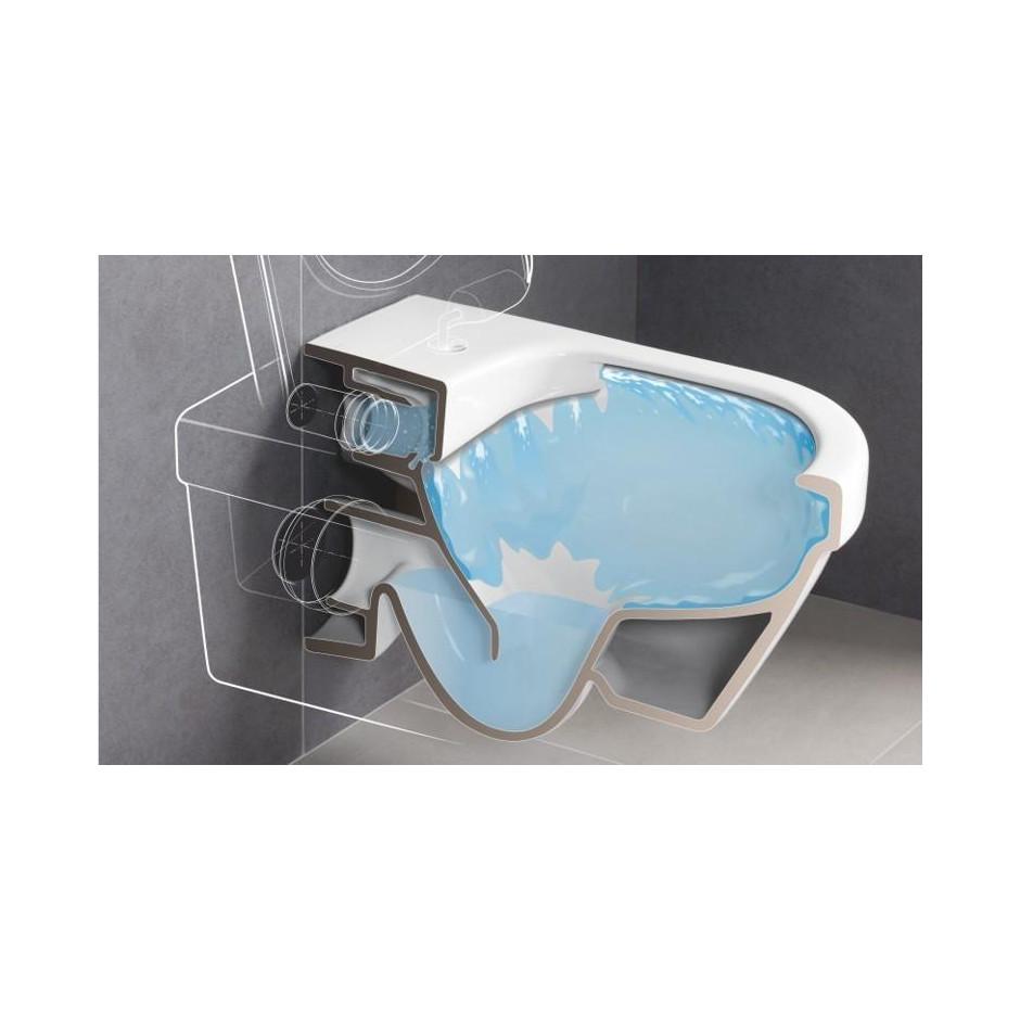 Villeroy & Boch Subway 2.0 miska WC wisząca bezrantowa, DirectFlush , 375 x 565 mm, Star White Ceramicplus - 466759_O2