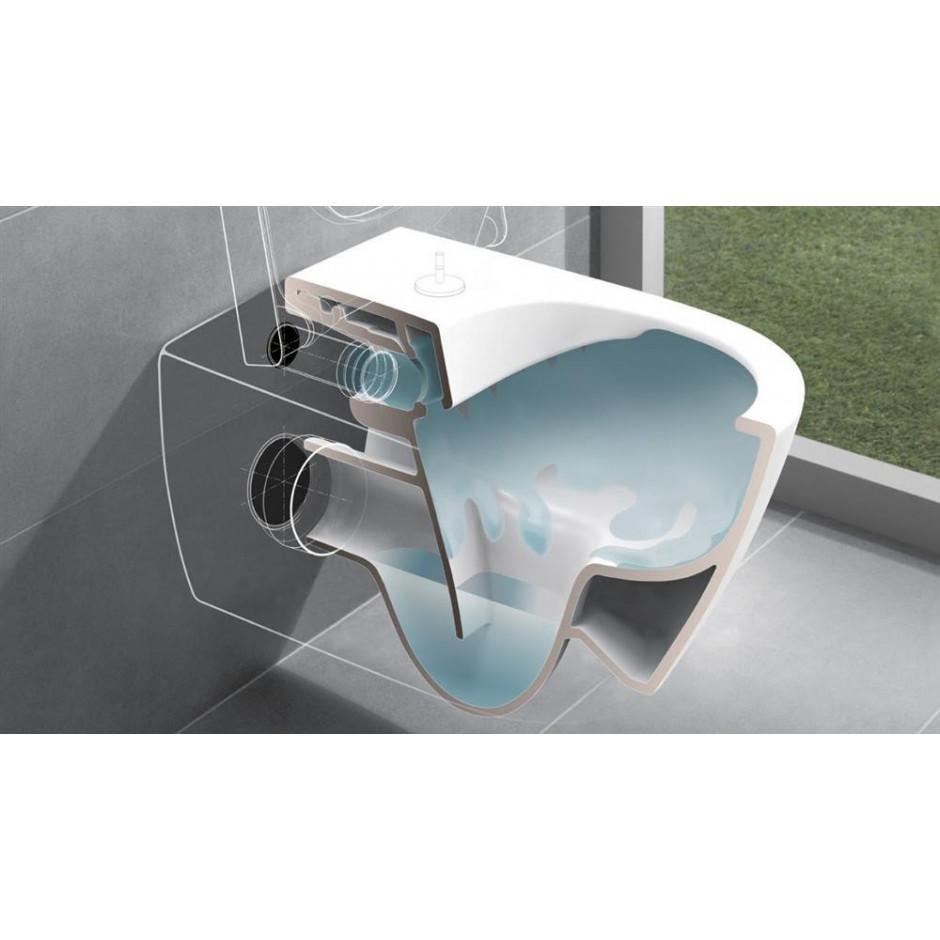 Villeroy & Boch Subway 2.0 miska WC wisząca bezrantowa, DirectFlush , 375 x 565 mm, Star White Ceramicplus - 466759_O3
