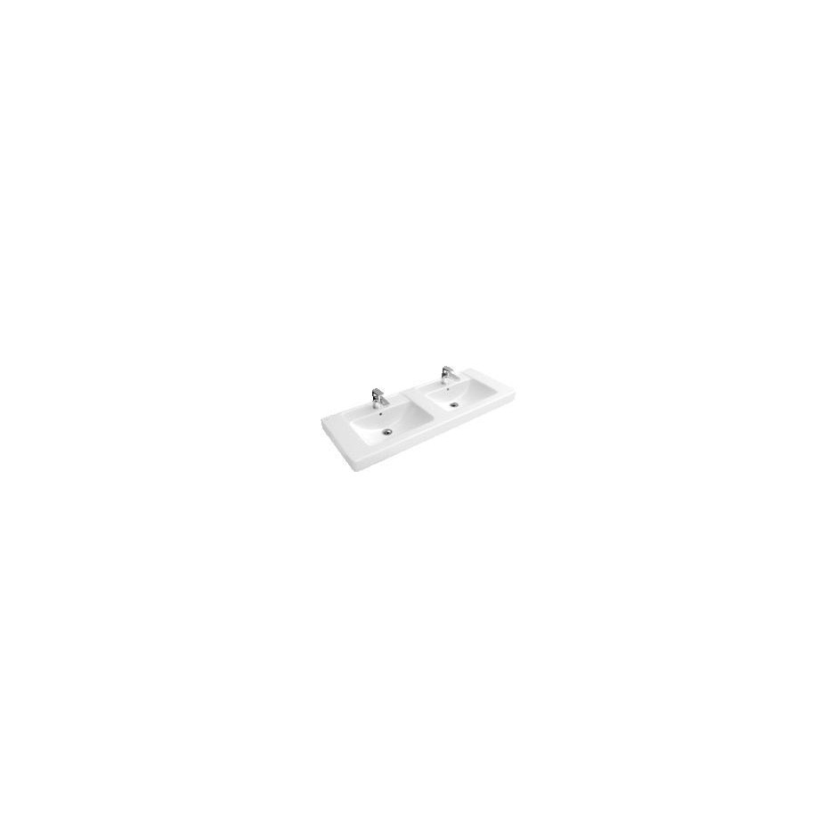 Villeroy & Boch Architektura, umywalka meblowa podwójna, 1300 x 485 mm, Weiss Alpin - 12209_O1