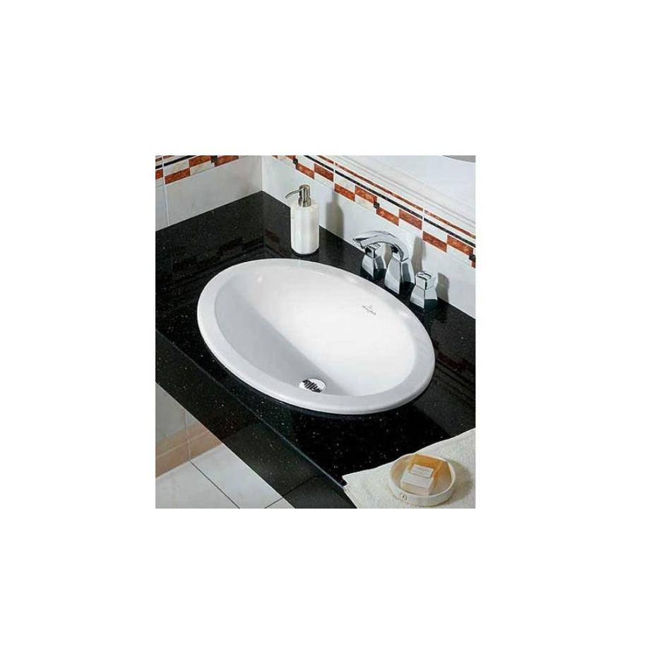Villeroy & Boch Loop & Friends umywalka nablatowa, 450 x 320 mm, Star White Ceramicplus - 9114_O2