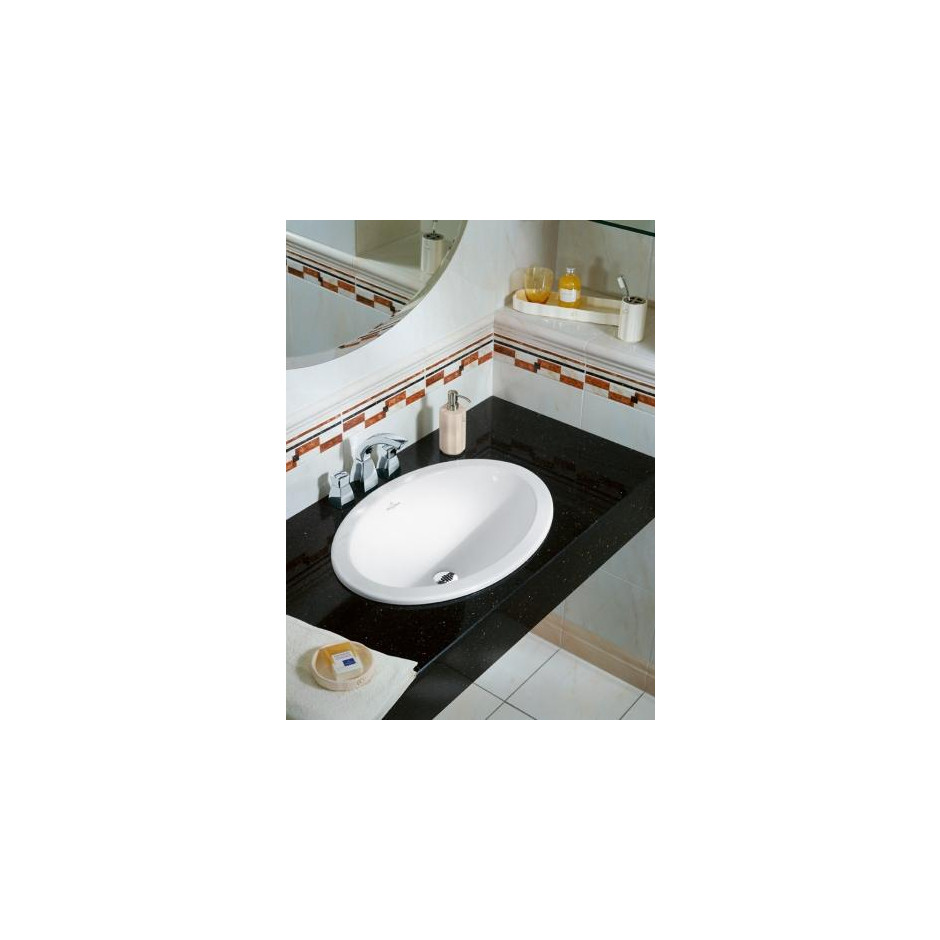 Villeroy & Boch Loop & Friends umywalka nablatowa, 500 x 355 mm, Star White Ceramicplus - 9104_O2