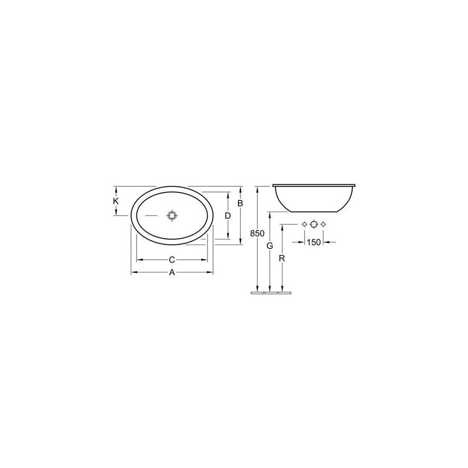 Villeroy & Boch Loop & Friends umywalka nablatowa, 570 x 405 mm, Star White Ceramicplus - 9094_T1
