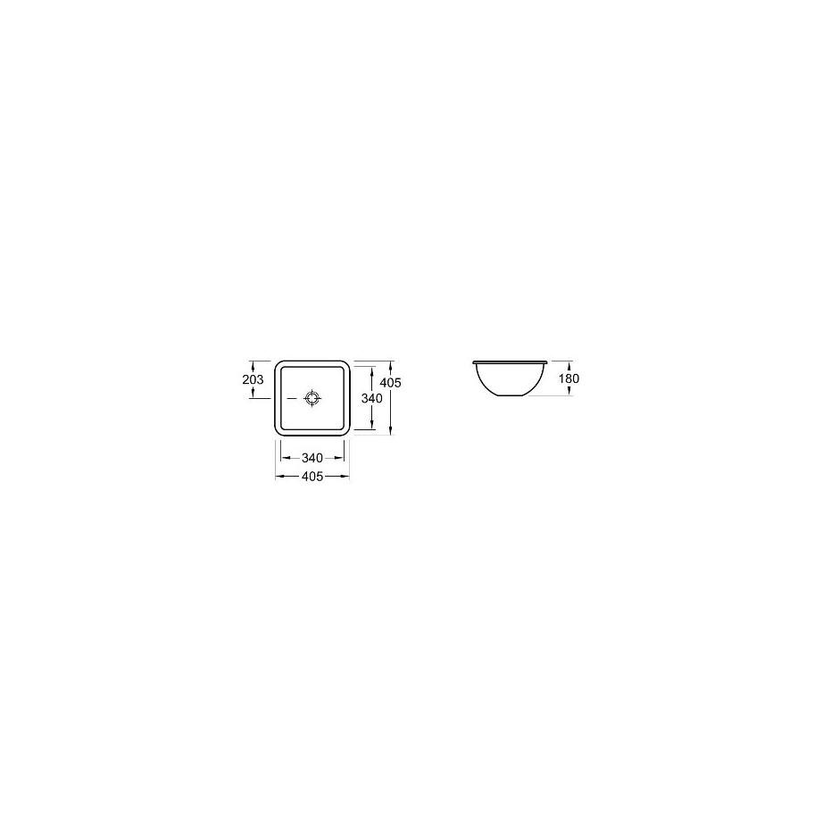 Villeroy & Boch Loop & Friends umywalka podblatowa, 340 x 340 mm, Weiss Alpin Ceramicplus - 9293_T1