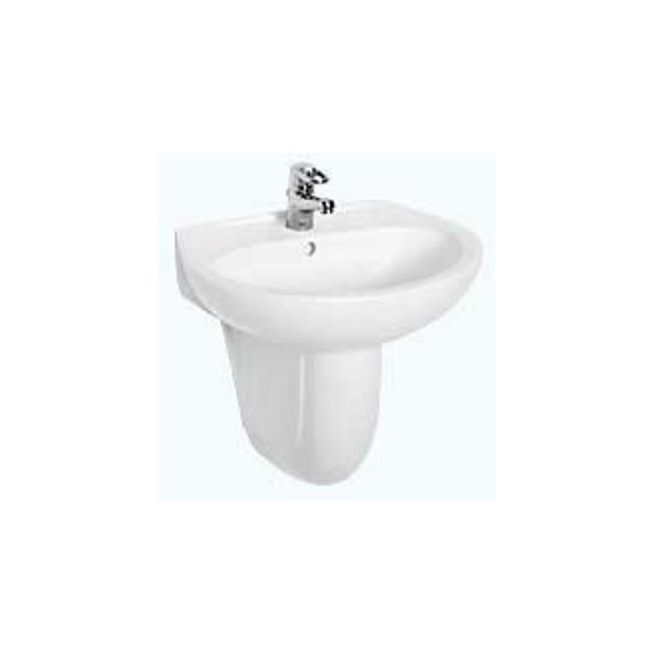 Koło Idol umywalka wisząca 60x45 cm bez otworu biała