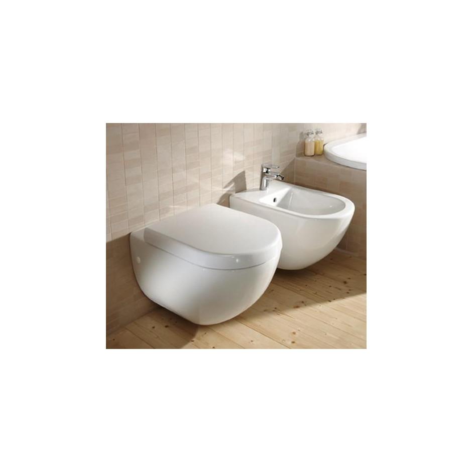 Villeroy & Boch Subway miska WC wisząca krótka, 355x480 mm, Star White Ceramicplus - 12550_A2