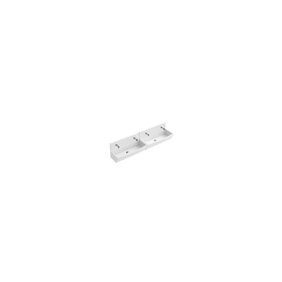 Villeroy & Boch O.Novo umywalnia rynnowa, przedtem OMNIA PRO, 1000 x 205 x 415 mm, Weiss Alpin Ceramicplus - 11606_O1