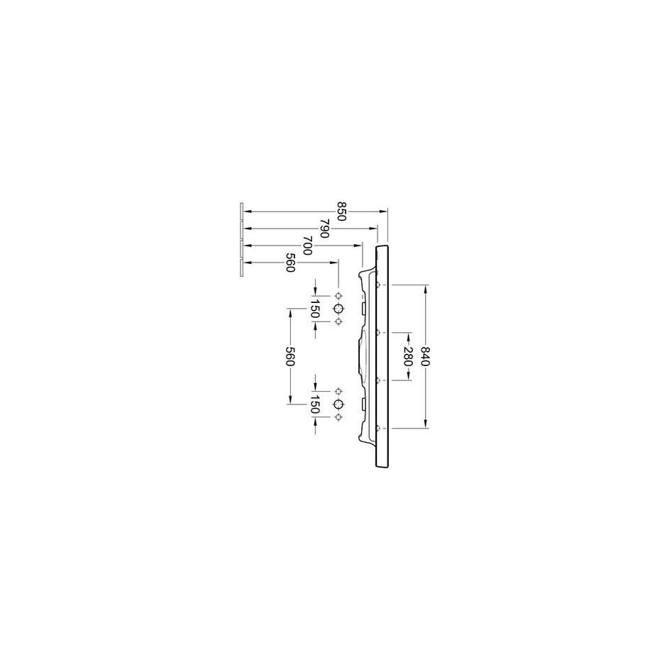 Villeroy & Boch Subway 2.0 umywalka meblowa podwójna, 1300 x 470 mm, Star White Ceramicplus - 420214_T2