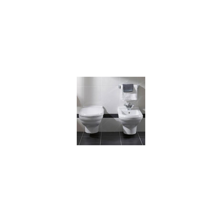 Villeroy & Boch Hommage bidet, 370 x 600 mm, model wiszacy, Star White Ceramicplus - 8741_O2