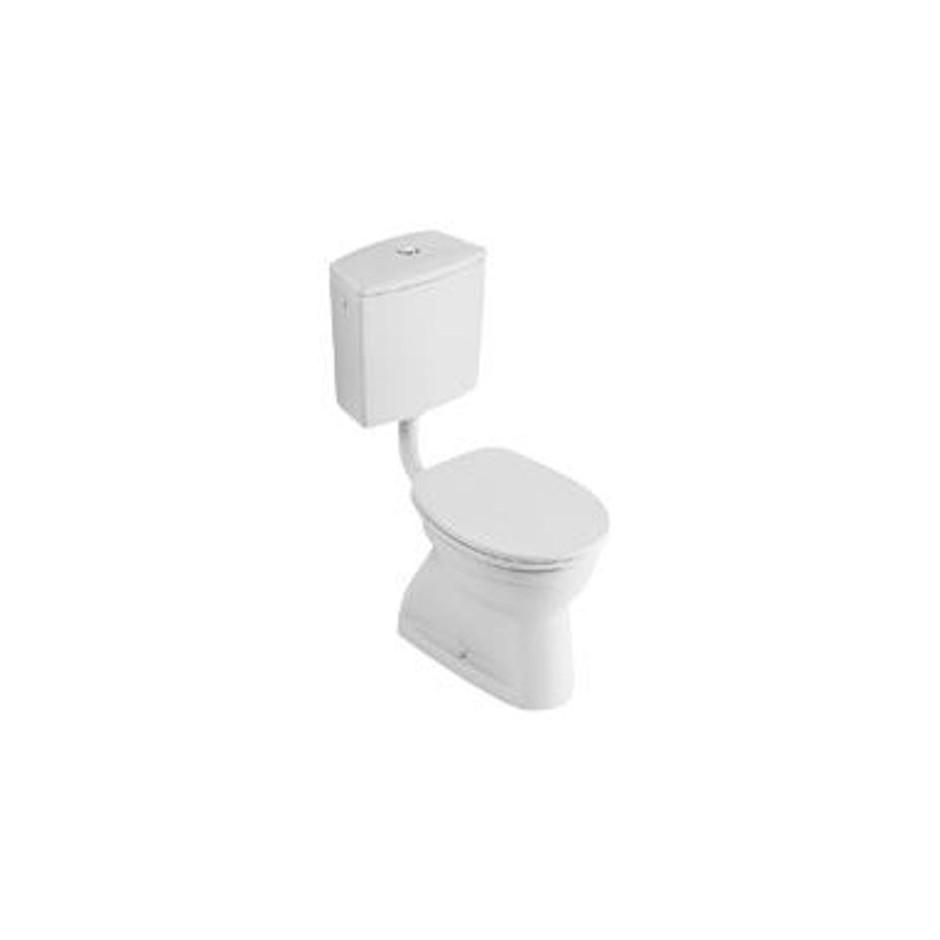 Villeroy & Boch O.Novo miska WC stojąca z pólka, 355 x 465 mm, odplyw poziomy, Weiss Alpin - 11050_O1