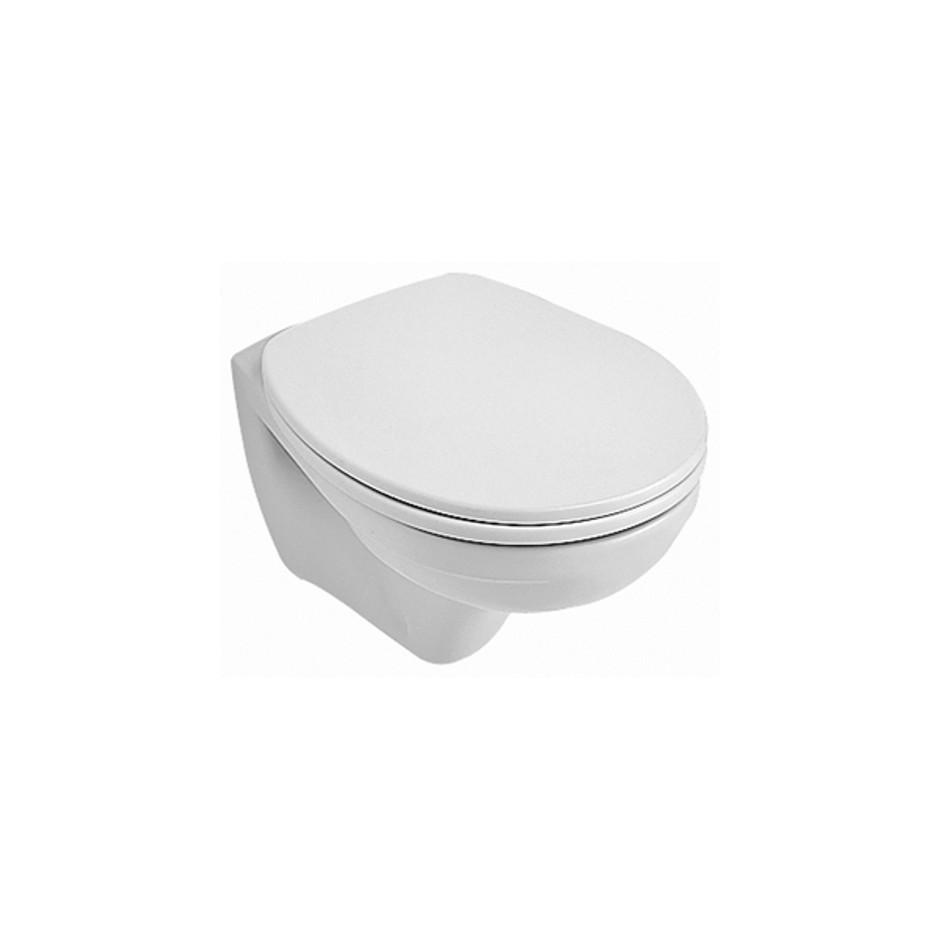 Villeroy & Boch O.novo, miska WC wisząca krótka, 350 x 490 mm, Weiss Alpin Ceramicplus - 10936_O1