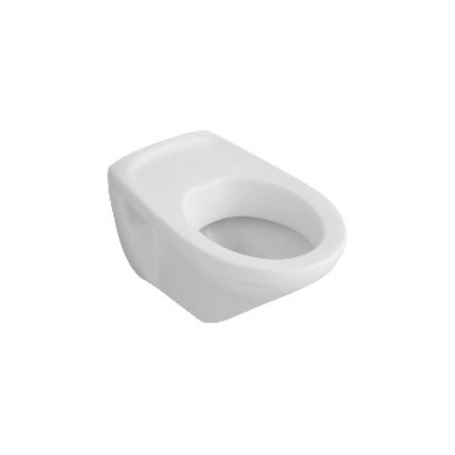 Villeroy & Boch O.Novo miska WC wisząca, 360 x 550 mm, bez otworów mocujacych do deski sedesowej, Weiss Alpin Ceramicplus - 11401_O1