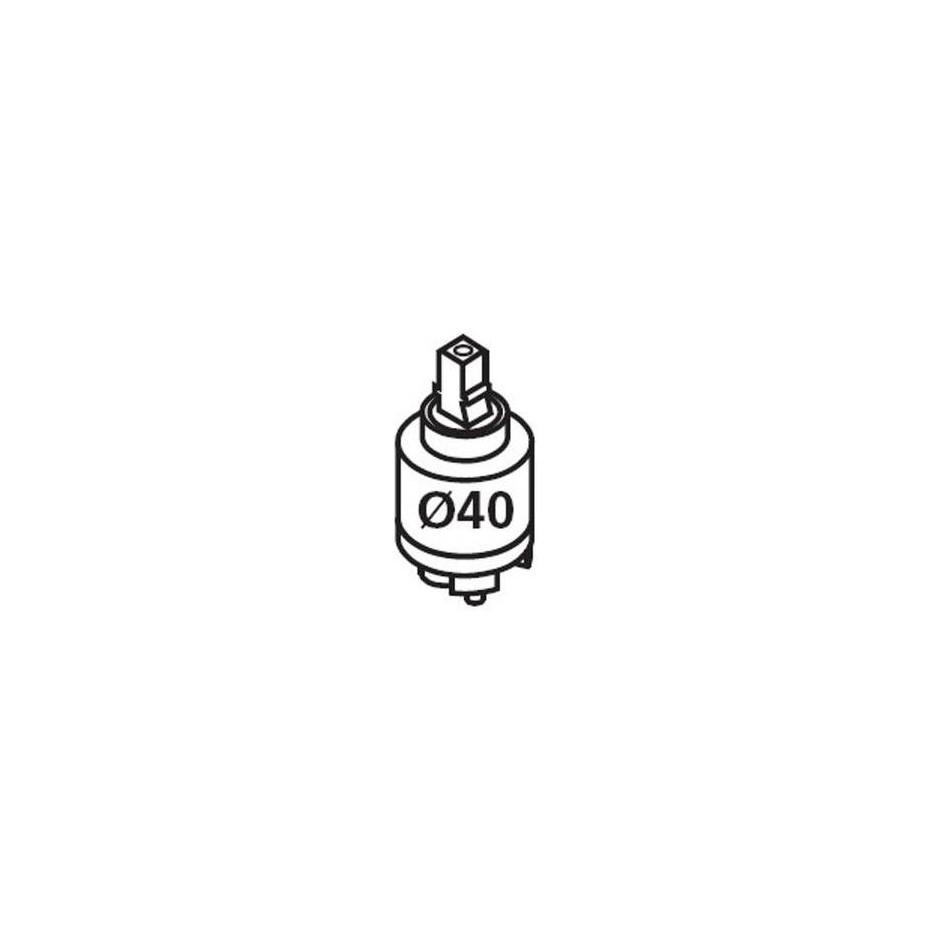 Tres wkład ceramiczny wolny wylot O 40 mm - 4420_O1