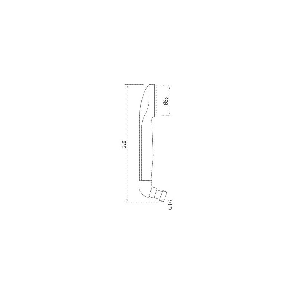 Tres słuchawka prysznicowa Ordal z kolankiem dawnego typu chrom - 4847_O2