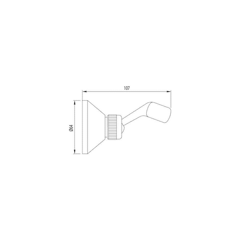 Tres uchwyt na słuchawkę ścienny regulowany chrom - 4853_O2