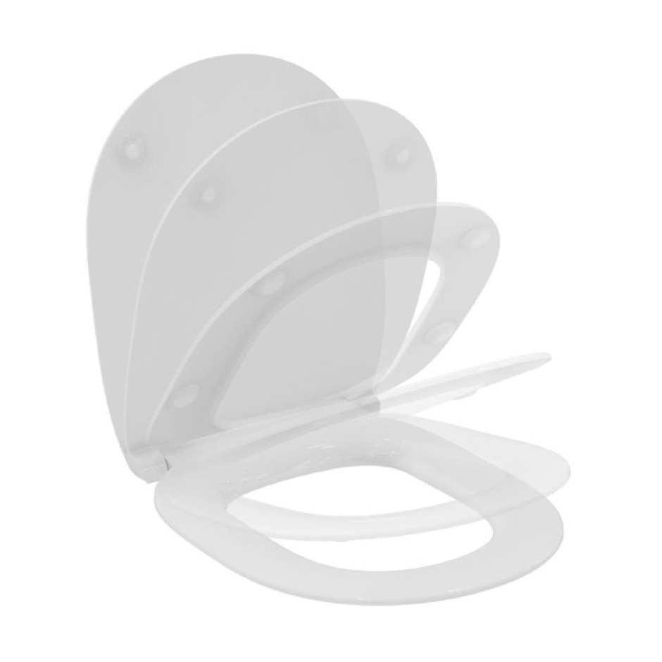 Ideal Standard Connect deska sedesowa WC wolnoopadająca cienka biała - 473169_O2